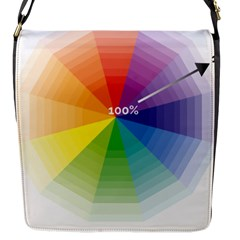 Colour Value Diagram Circle Round Flap Messenger Bag (s) by Mariart