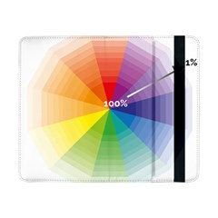 Colour Value Diagram Circle Round Samsung Galaxy Tab Pro 8 4  Flip Case by Mariart