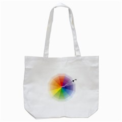 Colour Value Diagram Circle Round Tote Bag (white) by Mariart