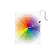 Colour Value Diagram Circle Round Drawstring Pouches (small)  by Mariart
