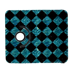 Square2 Black Marble & Blue Green Water Samsung Galaxy S  Iii Flip 360 Case by trendistuff