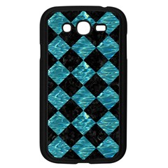 Square2 Black Marble & Blue Green Water Samsung Galaxy Grand Duos I9082 Case (black) by trendistuff