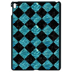 Square2 Black Marble & Blue Green Water Apple Ipad Pro 9 7   Black Seamless Case by trendistuff