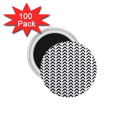Chevron Triangle Black 1 75  Magnets (100 Pack)  by Mariart