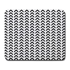 Chevron Triangle Black Large Mousepads by Mariart