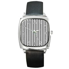 Chevron Triangle Black Square Metal Watch by Mariart