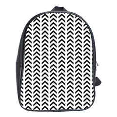 Chevron Triangle Black School Bags(large)  by Mariart