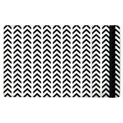 Chevron Triangle Black Apple Ipad 3/4 Flip Case by Mariart
