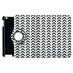 Chevron Triangle Black Apple Ipad 3/4 Flip 360 Case by Mariart