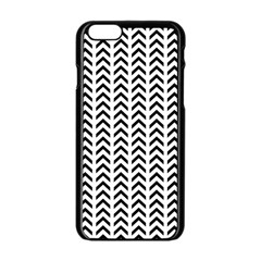 Chevron Triangle Black Apple Iphone 6/6s Black Enamel Case by Mariart