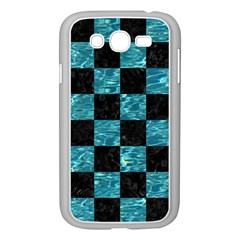 Square1 Black Marble & Blue Green Water Samsung Galaxy Grand Duos I9082 Case (white) by trendistuff
