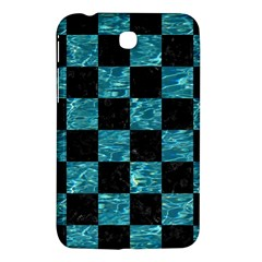 Square1 Black Marble & Blue Green Water Samsung Galaxy Tab 3 (7 ) P3200 Hardshell Case  by trendistuff