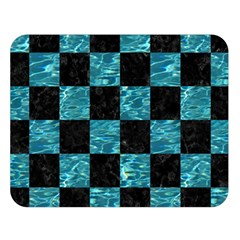 Square1 Black Marble & Blue Green Water Double Sided Flano Blanket (large)