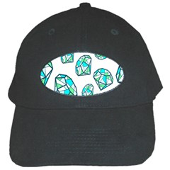 Brilliant Diamond Green Blue White Black Cap by Mariart