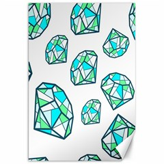 Brilliant Diamond Green Blue White Canvas 20  X 30   by Mariart