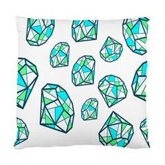 Brilliant Diamond Green Blue White Standard Cushion Case (two Sides) by Mariart