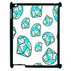 Brilliant Diamond Green Blue White Apple Ipad 2 Case (black) by Mariart
