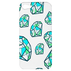 Brilliant Diamond Green Blue White Apple Iphone 5 Hardshell Case by Mariart