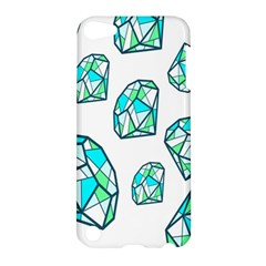 Brilliant Diamond Green Blue White Apple Ipod Touch 5 Hardshell Case by Mariart