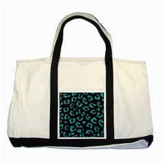 Skin5 Black Marble & Blue Green Water (r) Two Tone Tote Bag by trendistuff