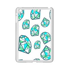 Brilliant Diamond Green Blue White Ipad Mini 2 Enamel Coated Cases by Mariart