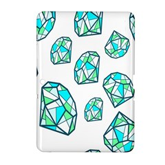 Brilliant Diamond Green Blue White Samsung Galaxy Tab 2 (10 1 ) P5100 Hardshell Case  by Mariart
