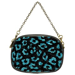 Skin5 Black Marble & Blue Green Water (r) Chain Purse (two Sides) by trendistuff