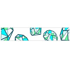 Brilliant Diamond Green Blue White Flano Scarf (large) by Mariart