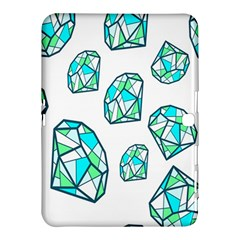 Brilliant Diamond Green Blue White Samsung Galaxy Tab 4 (10 1 ) Hardshell Case  by Mariart