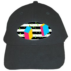 Cube Line Polka Dots Horizontal Triangle Pink Yellow Blue Green Black Flag Black Cap by Mariart