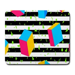 Cube Line Polka Dots Horizontal Triangle Pink Yellow Blue Green Black Flag Large Mousepads by Mariart