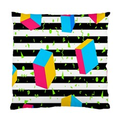 Cube Line Polka Dots Horizontal Triangle Pink Yellow Blue Green Black Flag Standard Cushion Case (two Sides) by Mariart