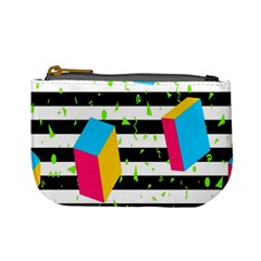 Cube Line Polka Dots Horizontal Triangle Pink Yellow Blue Green Black Flag Mini Coin Purses by Mariart