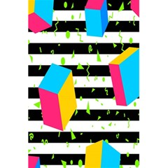 Cube Line Polka Dots Horizontal Triangle Pink Yellow Blue Green Black Flag 5 5  X 8 5  Notebooks by Mariart