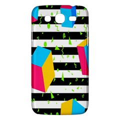 Cube Line Polka Dots Horizontal Triangle Pink Yellow Blue Green Black Flag Samsung Galaxy Mega 5 8 I9152 Hardshell Case  by Mariart