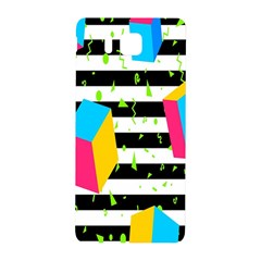 Cube Line Polka Dots Horizontal Triangle Pink Yellow Blue Green Black Flag Samsung Galaxy Alpha Hardshell Back Case by Mariart