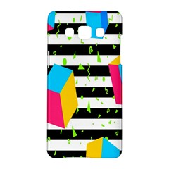 Cube Line Polka Dots Horizontal Triangle Pink Yellow Blue Green Black Flag Samsung Galaxy A5 Hardshell Case  by Mariart