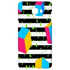 Cube Line Polka Dots Horizontal Triangle Pink Yellow Blue Green Black Flag Samsung C9 Pro Hardshell Case