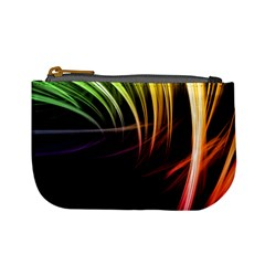 Colorful Abstract Fantasy Modern Green Gold Purple Light Black Line Mini Coin Purses by Mariart