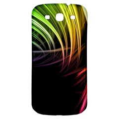 Colorful Abstract Fantasy Modern Green Gold Purple Light Black Line Samsung Galaxy S3 S Iii Classic Hardshell Back Case by Mariart
