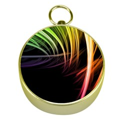 Colorful Abstract Fantasy Modern Green Gold Purple Light Black Line Gold Compasses by Mariart
