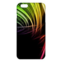 Colorful Abstract Fantasy Modern Green Gold Purple Light Black Line Iphone 6 Plus/6s Plus Tpu Case by Mariart