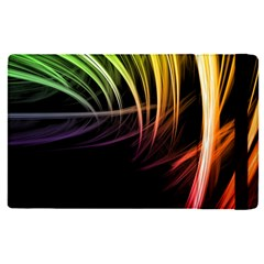 Colorful Abstract Fantasy Modern Green Gold Purple Light Black Line Apple Ipad Pro 12 9   Flip Case by Mariart