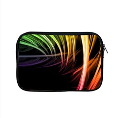 Colorful Abstract Fantasy Modern Green Gold Purple Light Black Line Apple Macbook Pro 15  Zipper Case by Mariart