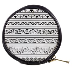 Black White Decorative Ornaments Mini Makeup Bags by Mariart
