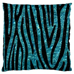 Skin4 Black Marble & Blue Green Water Large Cushion Case (two Sides) by trendistuff