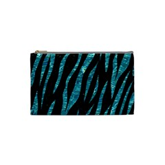 Skin3 Black Marble & Blue Green Water Cosmetic Bag (small) by trendistuff