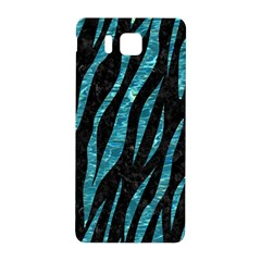 Skin3 Black Marble & Blue Green Water Samsung Galaxy Alpha Hardshell Back Case by trendistuff