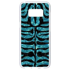Skin2 Black Marble & Blue Green Water (r) Samsung Galaxy S8 White Seamless Case