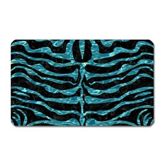 Skin2 Black Marble & Blue Green Water Magnet (rectangular) by trendistuff